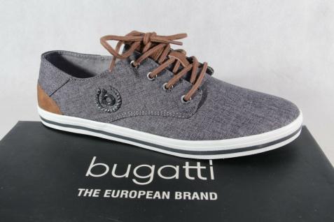 Bugatti Herren Sneakers Schnürschuh Schnürschuhe Halbschuhe grau 50205 NEU!