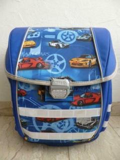 "McNeill Schultasche Schulrucksack "" Dream Cars"" 2-tlg. blau NEU!"