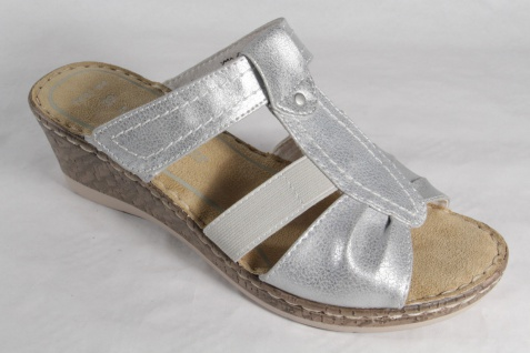 Marco Tozzi Pantoletten Damen Pantoletten Tozzi Sandalen silber NEU! 577530