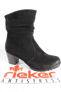 Rieker Stiefelette 98570 Damen Stiefel Stiefelette Rieker Stiefel schwarz Reißverschluss NEU 631c48