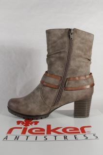 Rieker 98572 Damen Stiefel Reißverschluss Stiefelette Stiefel grau Reißverschluss Stiefel NEU 0f21ad