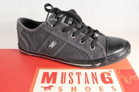Mustang Schnürschuhe Sneakers Sportschuhe Halbschuhe 1099 schwarz NEU