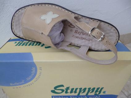 Stuppy Damen Neu! Sandale Sandalette Echtleder beige Neu! Damen 58c755