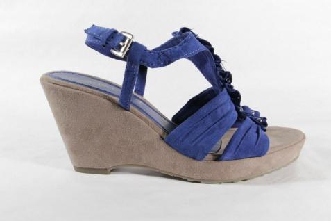 Marco Tozzi Damen Innensohle, Sandale, blau, weiche Innensohle, Damen Keilabsatz NEU!! f0ddd1