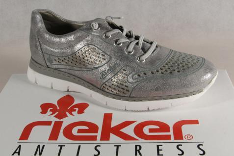 Rieker Ballerina Slipper Sneakers Halbschuhe Sportschuhe Ballerina Rieker silbergrauNEU! 483c67