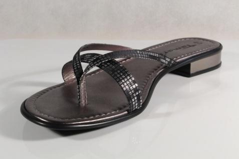 Damen Zehenstegpantolette Tamaris Zehenstegpantolette Damen Sandale Pantolette schwarz NEU! 84b7ba