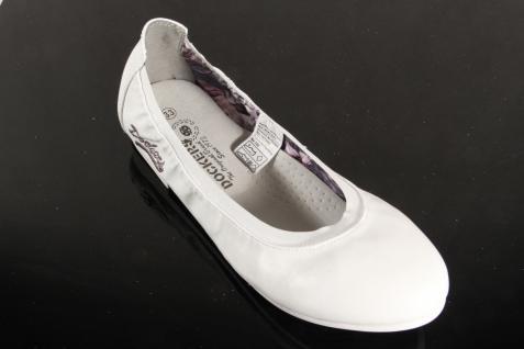 Dockers Ballerina NEU!! Slipper Halbschuhe Pumps weiß NEU!! Ballerina 8e16ee
