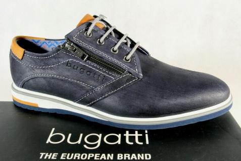Bugatti Herren Schnürschuh Schnürschuhe Halbschuhe Sneaker blau 65103 NEU!