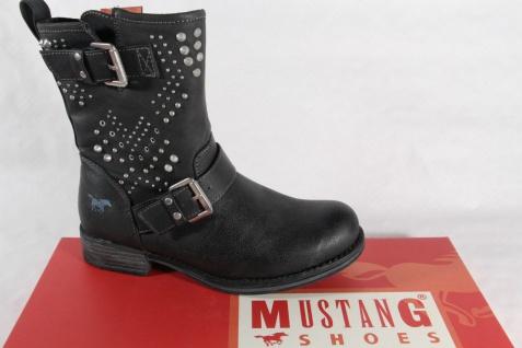 Mustang Stiefel Stiefelette Stiefeletten Boots schwarz gefüttert RV 5026 NEU!!