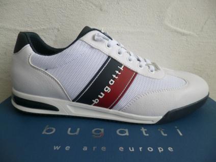 Bugatti Sneakers Sneaker Schnürschuhe Halbschuhe Slipper weiß A3802 NEU!