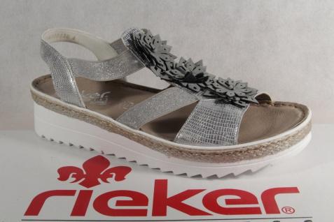 Rieker Damen Sandalen V3266 Sandaletten Sandale Pantoletten grau V3266 Sandalen NEU!! 2513fb