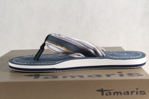 Damen Tamaris Zehenstegpantolette Sandale 27109 Pantolette blau 27109 Sandale NEU! 636846