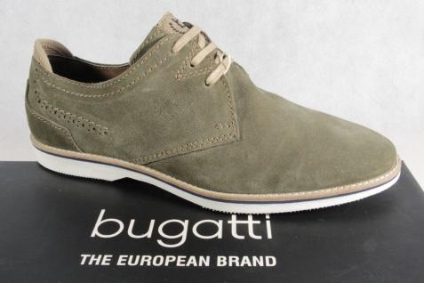 Bugatti Schnürschuhe Herren Schnürschuhe Bugatti Halbschuhe Sneaker oliv NEU!! 93c601