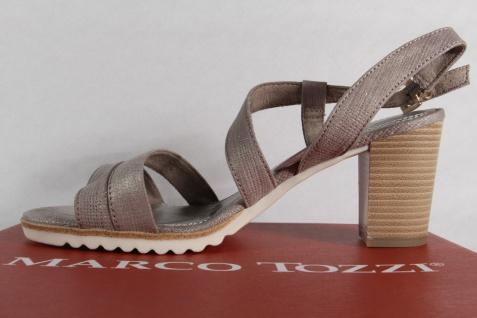 Marco Tozzi Damen Sandale, NEU!! grau, weiche Lederinnensohle, Blockabsatz NEU!! Sandale, aaf391