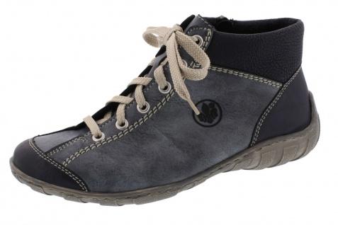 Rieker Schnürschuhe, M3731 Damen Stiefel Stiefelette Schnürschuhe, Rieker Sneaker blau NEU! 9d333e