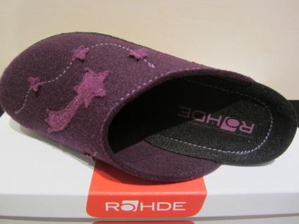 Rohde Damen Softfilz, Pantoffel, Softfilz, Damen violett Fußbett NEU!! f2925e