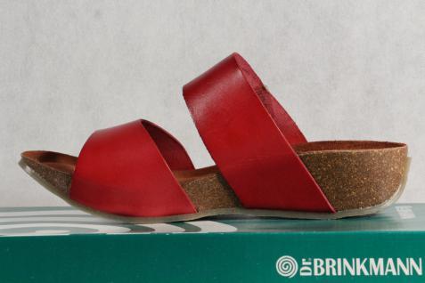 Dr. Brinkmann rot Damen Pantolette Pantoffel Echtleder rot Brinkmann NEU! 0953b0