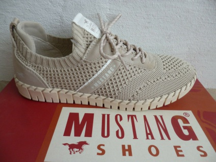 Mustang Sneaker Sneakers Slipper Slippers beige 1379 NEU!