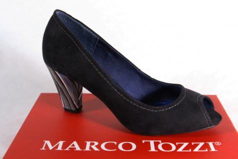 Marco Pumps, Tozzi Pumps, Marco Peep Toes, schwarz, NEU! c1113f