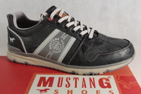 Mustang Herren Schnürschuhe Schnürschuh Sneakers Sneaker 4095 stein/grau NEU!