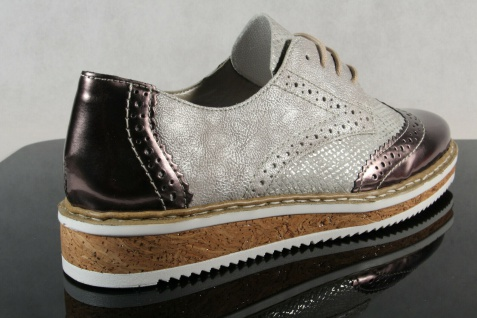 Rieker Damen Schnürschuh Schnürschuhe Sneakers Sportschuhe Halbschuhe grau NEU! - Vorschau 5