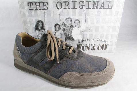Fun & Co Herren grau Schnürschuh, Halbschuh Sneaker blau/ grau Herren NEU! e8552e