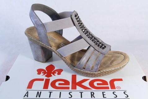 Rieker Damen Sandale Sandalette Sandalen InnensohleNEU!! grau, weiche InnensohleNEU!! Sandalen 1ae8a5