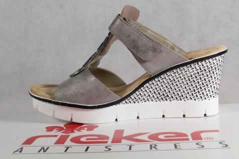 Rieker Pantoletten Pantolette Pantoffel grau, 68563 NEU!
