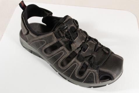 Manitu grau Herren Slipper Leder grau Manitu Echtleder, Klettverschluss NEU Beliebte Schuhe ce3b75