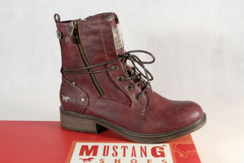 Mustang Stiefel Stiefeletten Schnürstiefel Boots bordeaux 1264 NEU!
