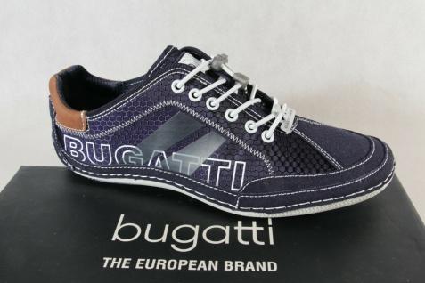 Bugatti Herren Sneaker Schnürschuhe Halbschuhe Slipper blau 49009 NEU!