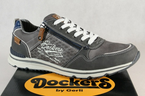 Dockers Herren Schnürschuhe Sneakers Halbschuhe grau 42MO003 NEU!