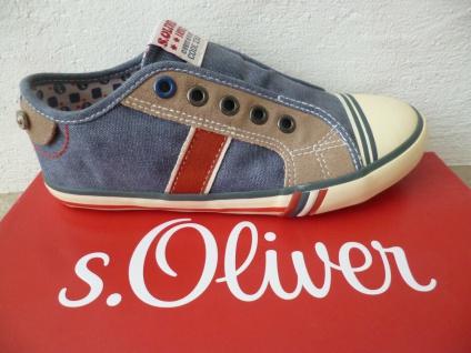 S. Oliver Slipper Sneakers Sportschuhe Halbschuhe blau Jungen NEU!