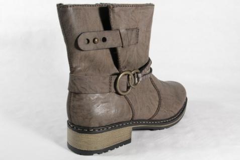 Rieker Damen Stiefel Stiefeletten Boots Winterstiefel grau gefüttert NEU