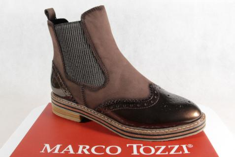 Marco Tozzi Stiefelette, Stiefel, NEU Stiefel, Schlupfstiefel, braun, 25812 NEU Stiefel, 919701