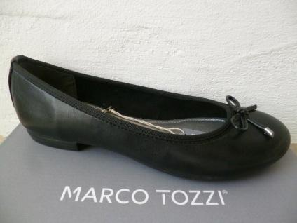 Marco Tozzi Damen Slipper Ballerinas schwarz NEU!