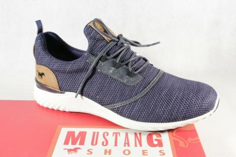 Mustang Slipper Schnürschuhe Sneakers Halbschuhe Sportschuhe blau 4132 NEU
