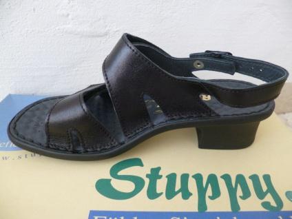 Stuppy schwarz Damen Sandale Sandalette Echtleder schwarz Stuppy Neu! 2e6630