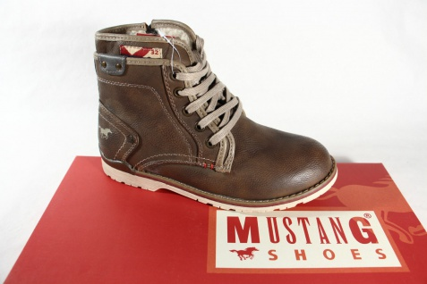 Mustang Stiefel Boots Stiefeletten Stiefelette braun 5032 NEU!