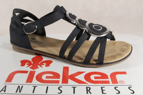 Rieker weiche Damen Sandalen Sandaletten dunkelblau, weiche Rieker Innensohle 64296 NEU!! fc6771