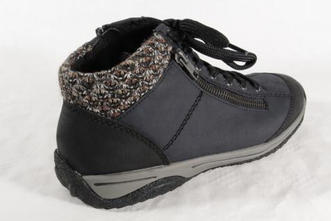 Rieker Schnürschuhe, L5223 Damen Stiefel Stiefelette Schnürschuhe, Rieker Sneaker blau NEU! a5392b