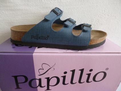 Birkenstock Papillio Damen Pantolette Pantoletten blau multi NEU!