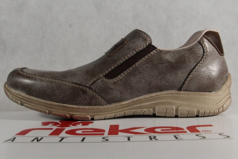 Rieker Slipper Sneakers Halbschuhe grau/ Beliebte braun weiche Lederinnensohle NEU Beliebte grau/ Schuhe 023ea1