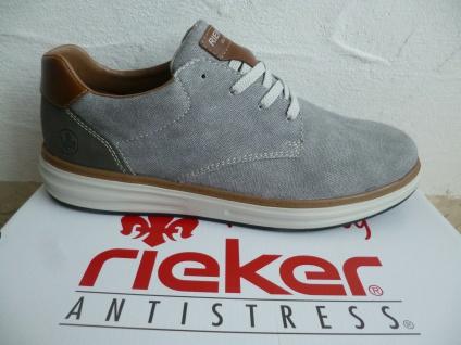 Rieker Herren Schnürschuhe Sneaker Sneakers Sportschuhe grau B6314 NEU