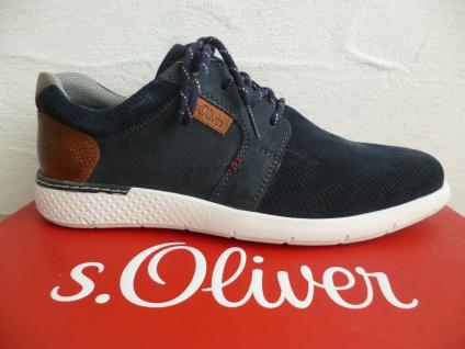 s.Oliver Herren Sneakers Sneaker Sportschuhe Schnürschuhe blau Leder 13631 NEU