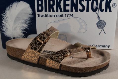 Birkenstock Gizeh Zehensteg Trenner Pantolette NEU Pantoletten kupfer Birko Flor NEU Pantolette fdfc9d