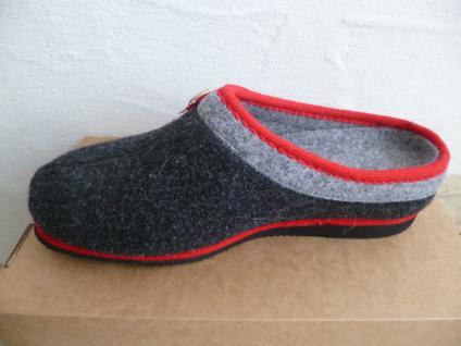 Frankenwald Damen Pantoffel Einlagen Hausschuhe, grau/rot, für lose Einlagen Pantoffel Art.126 NEU! 598284