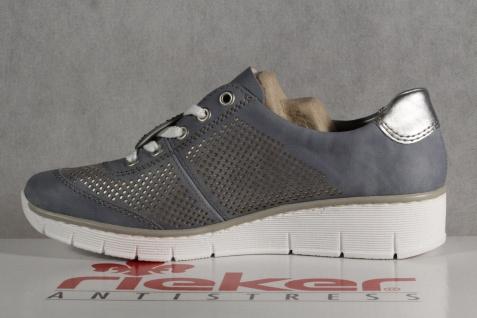Rieker Sneakers Damen Schnürschuh Schnürschuhe Sneakers Rieker Sportschuhe Halbschuhe blau NEU! de51f8