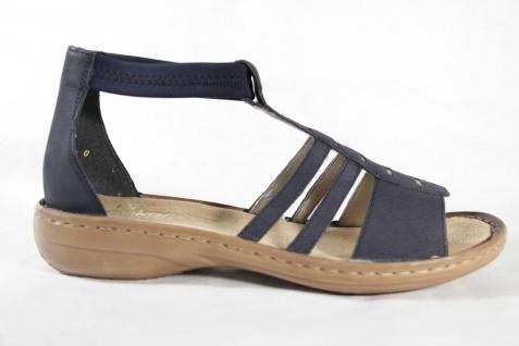 Rieker Damen Sandale Innensohle Sandalen Sandalette blau, weiche Innensohle Sandale NEU!! 376840