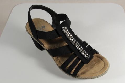 Rieker Sandale, Damen Sandale, Rieker Sandalen Sandaletten schwarz NEU!! 68e540